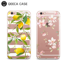 Fancy design transparents casing with print phone cover for iphone 5,5s,6,6s,7,7 plus case TPU soft