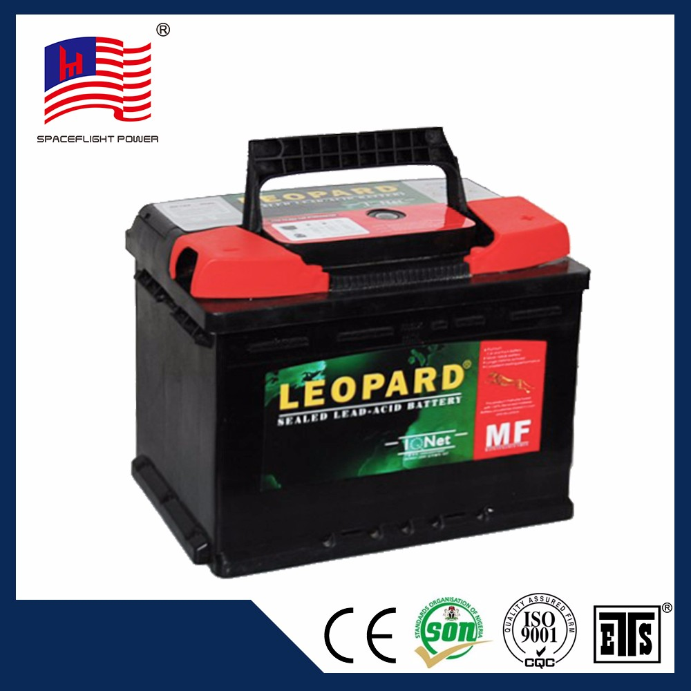 Modern design hot selling LEOPARD DIN44 starter 12v car battery