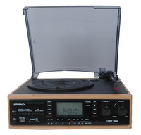 Enjoy the modern optional Turntable record Player with Mp3 Encoding System , USB SD, AM/FM stereo Radio,Cassette tape player
