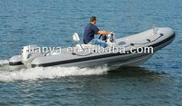 Liya 8 people rib boat inflatable boat with outboard motor