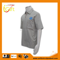 100% Cotton Design china made logo printing grey mens casual shirt design
