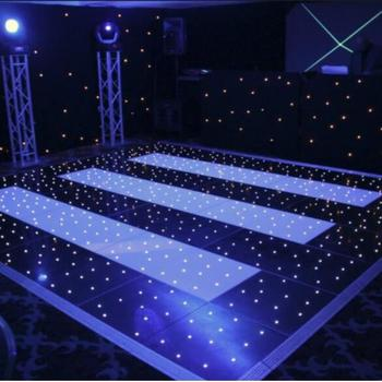 professional led stage light wedding event white starlit led dance floor manufacturer