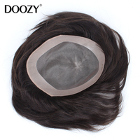 thin skin mono swiss lace men human hair toupee