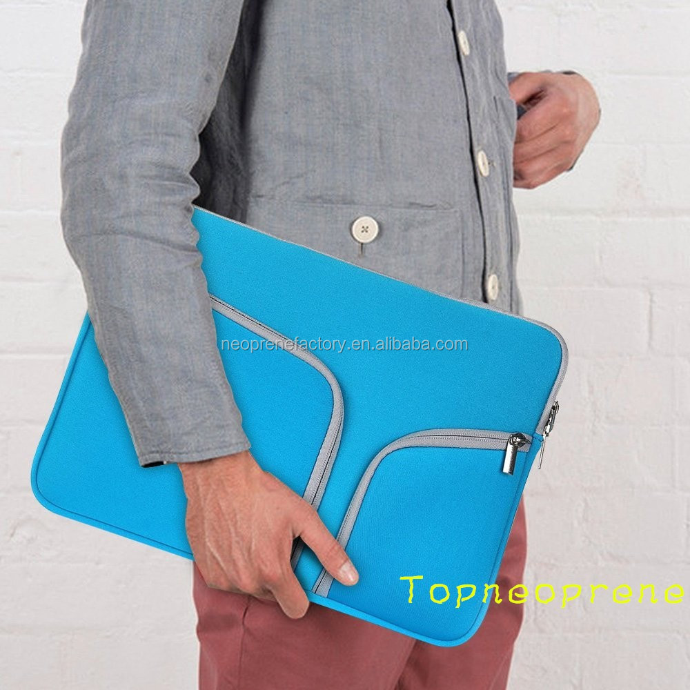High quality waterproof neoprene laptop sleeve with zipper for 15inch