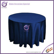 #20821 navy shiny satin wedding party satin cheap disposable satin wholesale round tablecloths 132 polyester table cloth