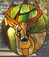 animal lamps stained glass