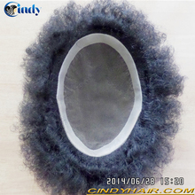 hot sale cheap afro kinky curl indian hair black mens toupees for sale