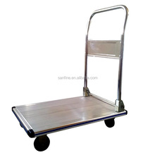 Durable alunimum platform hand truck dolly wagon hand pallet truck