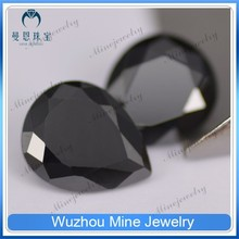European cut loose Cubic Zirconia rough gemstone black cz aaaaa pear