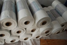 Printed FFS heavy packaging film on roll, made of LDPE material with hexene