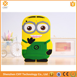 Custom 3D Despicable Me Minions Rubber Silionce Case For Apple ipad 2 3 4