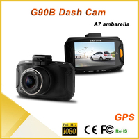 G90 2.7 inch screen 170 degree wide angle lens cmos 360 degree car camera car gps with dvr, car mini dv camera