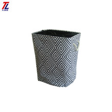 eco-friendly handmade laundry basket canvas decorate foldable fabric basket liner with cotton handle