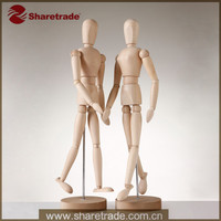 Adjustable Movable Mini Wooden Female Mannequin Doll