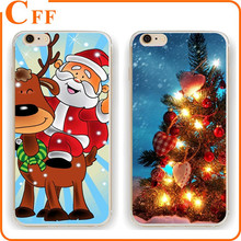 Christmas Gift Xmas Festive Clear Transparent Plastic Phone Case For Samsung S3 S4 S5 S6 S6edge plus S7 S7Edge Note 4 5 Cover