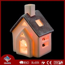 Simple decorative ceramic house shaped interior decoration items