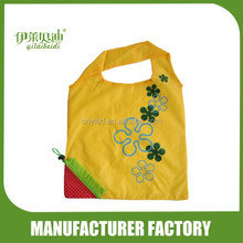 Wholesale Supply Stock Promotional Fruit Shape Strawberry Foldable Shopping Bag/Custom Folding Recycle Bag With Pouch