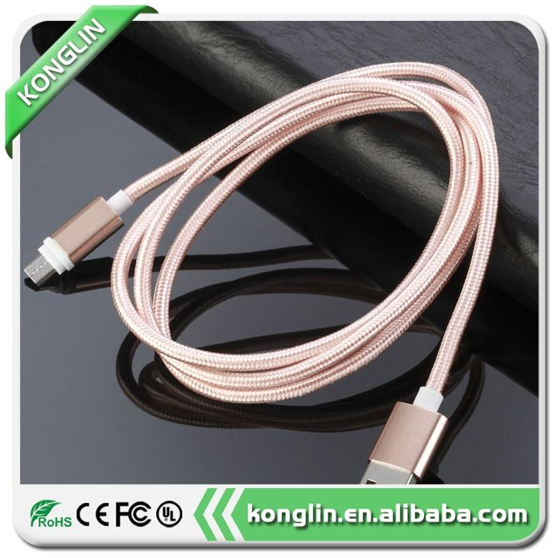 Brand new braid shield cable usb android usb cable,cell phone cable for HTC Android