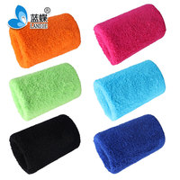 Colorful cotton terry sweatband wrist band design your own sweatband
