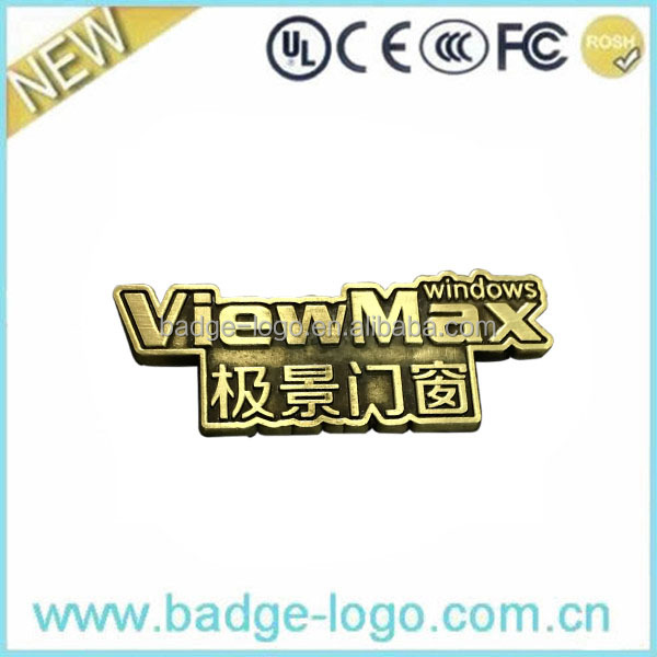 Adhesive Brand Logo Zinc Alloy Name Plate on Door