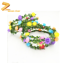 Green Leaf Wreaths Wholesale Travel Photo Bridal Wedding Round Flower Headdress