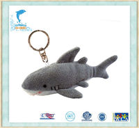 Plush Grey Shark Keychain Stuffed sea animal promotion Toys