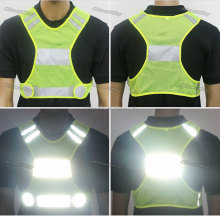 Outdoor Safety Reflective Vest with LED slap for Running, Cycling