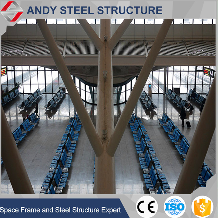 Large Span Prefab Air Terminal Light Type Metal Truss Roof System