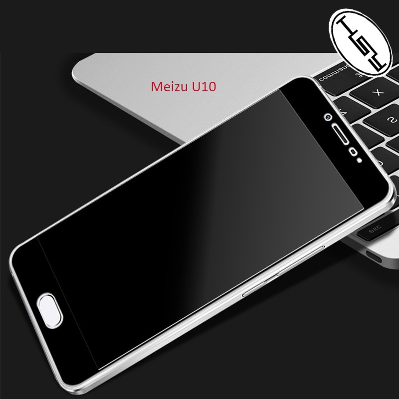 HUYSHE for Meizu <strong>U10</strong> 2.5D full cover black anti-broken 9h hardness tempered glass screen protector