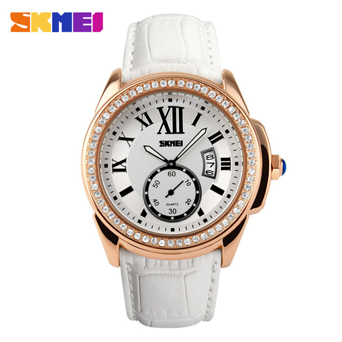 skmei brand name ladies wrist watches,reloj stainless steel back japan movt