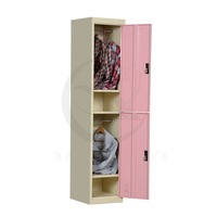 2016 Luoyang Xingyuan used stainless steel 2 doors locker cabinet clothes metal school lockers for sale
