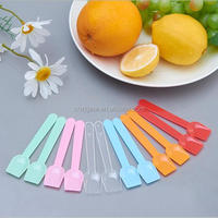 Shovel Shaped Plastic Colorful Ice Cream Spoon