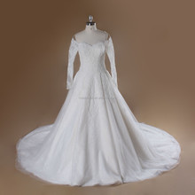 Rosabridal Custom made Beaded Lace Off Shoulder A-Line Gown Wedding Dress xy-528