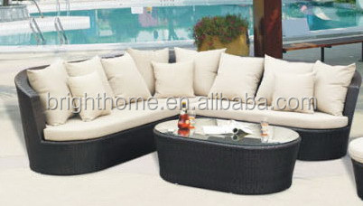 Garden Rattan Furniture, Outdoor Furniture and Wicker Sofa with PE Rattan