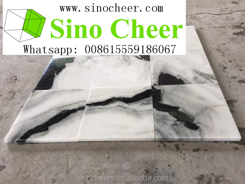 White panda marble black <strong>grain</strong> for wall tiles and floors