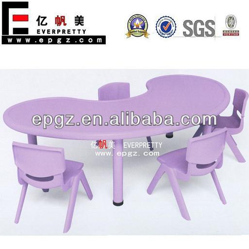 Plastic Kids Study Table And Chair For Play School