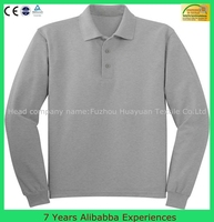 2015Top sale mens long sleeve polo t shirt with various sizes and colors wholesale (7 Years Alibaba Experience )