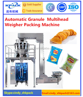 ISO Certification 9001 KL-420 Automatic potato chips packing machinery with 10 head weigher