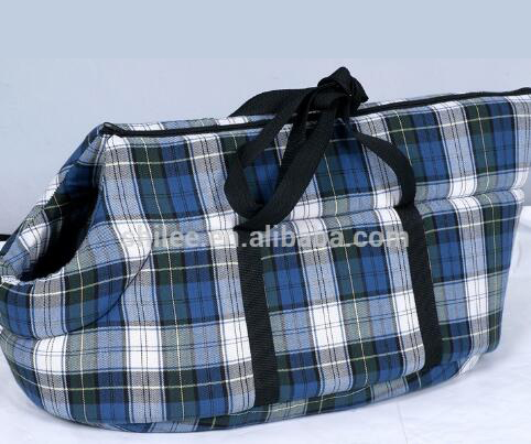 Grid pattern Pet traveling carrier dog travel bag