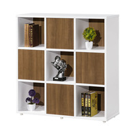 Home/ Office Display Shelf Flexible Combination Modern European Style Movable Wood Bookcase