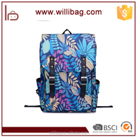 Printing Leaves Backpack Mochila Rucksack Fashion Canvas Bags Retro Casual School Bag Travel Bags