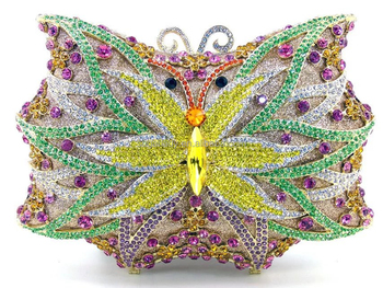 2017 High Quality Indian Beaded Party Bags/Austrian Crystal Evening Bags/Crystal Stone Evening Bag