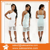 Wholesale 2015 Fashion Sexy XXL Size Women Casual Dress Braces Sexy Hollow-out tight skirt