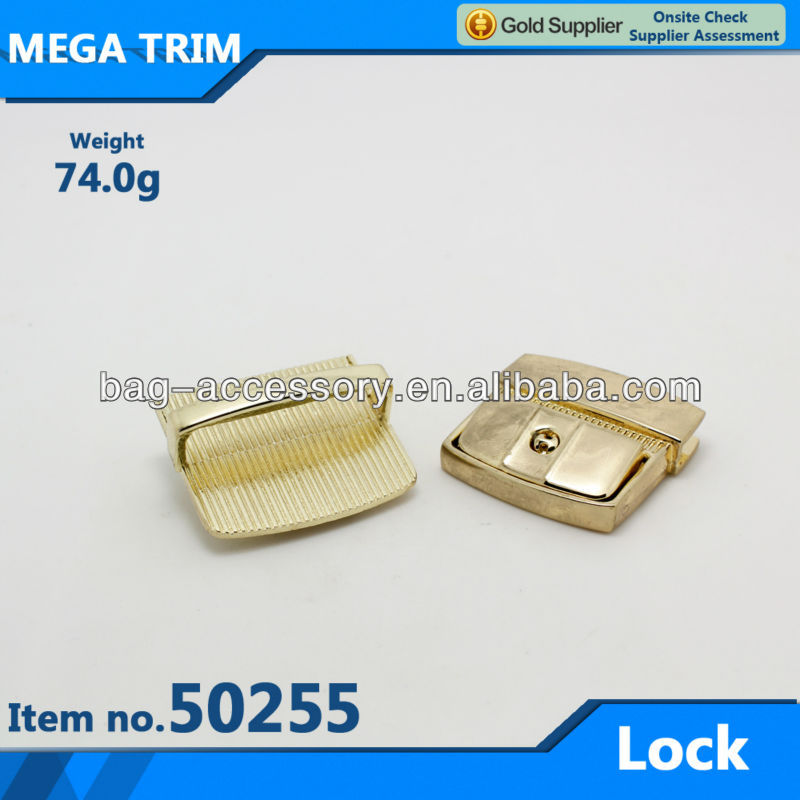 Fashion metal twist lock handbag hardware bag lock in guangzhou