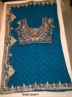 DESIGNER PARTY WEAR EMBROIDERED NET SAREES