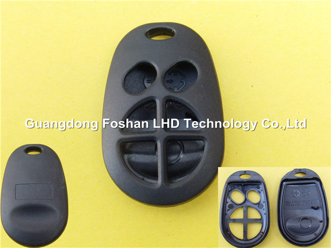Keyless 6 buttons remote key casing for Toyota car key fob no rubber pad