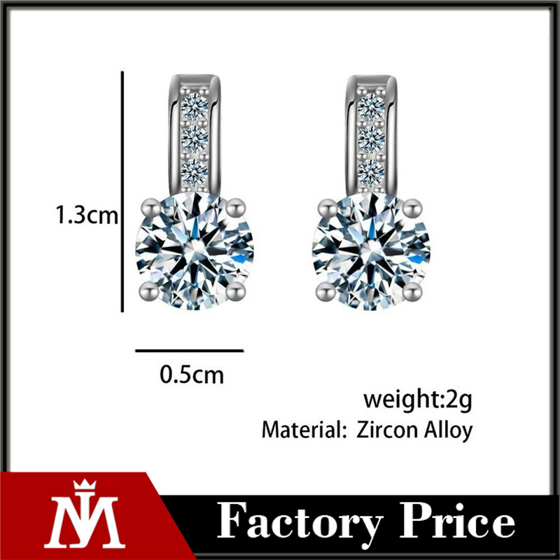 2017 Dropship Silver Color Crystal Earring Brincos Stud Earring Rhinestone aretes Pendiente oorbellen Earrings For Women