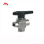 Stainless steel 304 angle type PTFE seat propane cryogenic screw end industrial pneumatic 90 degree ball valve