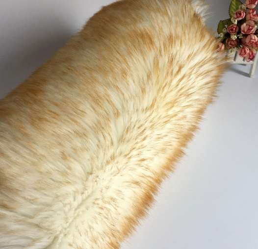 Luxury Colorful Faux Fox Fur Fabric Long Pile Fake Fur For Garment