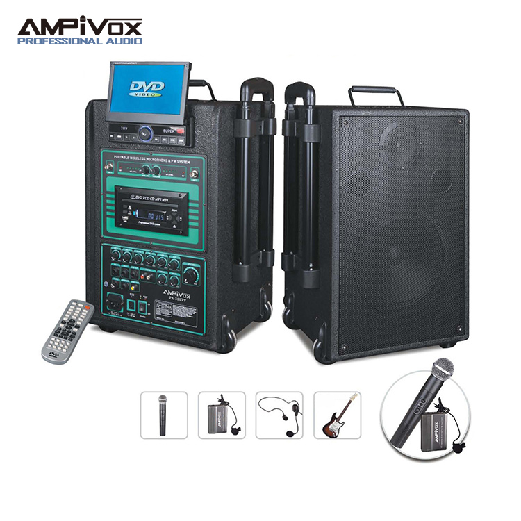 160W rechargeable portable wireless public address amplifier pa system